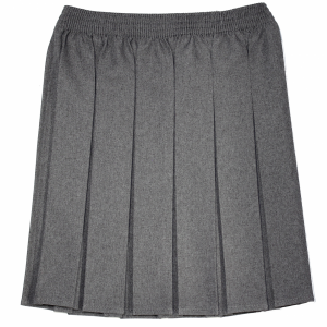Box Pleat Skirt - Grey