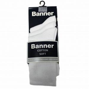 3 pack knee high socks white